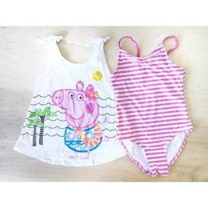 Hula Holiday Peppa Pig Bathing Suit and Coverup
